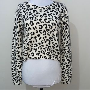 Divided Leopard Print Sweater
